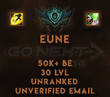 EUNE UNRANKED/UNVERIFIED SMURF | 50k-69k BE