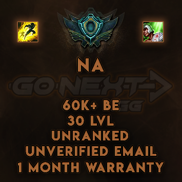 NA UNRANKED/UNVERIFIED SMURF | 60K+ BE